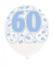 Ballon-Set 60 Jahre blau