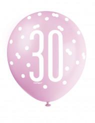 6 Ballons für den 30. Geburtstag