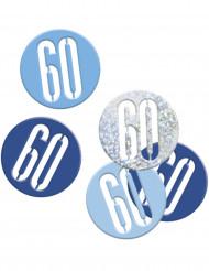 Konfetti blau/grau - 60 Jahre 14g