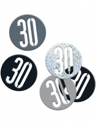 Konfetti grau/schwarz - 30 Jahre 14g