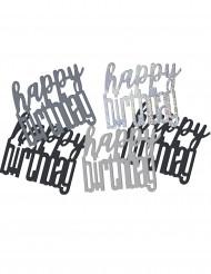 Geburtstags-Konfetti schwarz-grau 14g