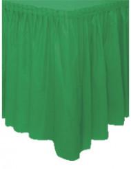 Smaragdgrüner Tischrock aus Kunststoff