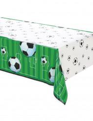 Fussball-Tischdecke aus Kunststoff grün-weiss