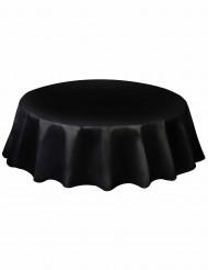 Schwarze und runde Tischdecke aus Plastik