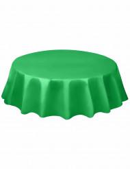 Runde smaragdgrüne Kunststoff-Tischdecke