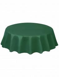 Runde dunkelgrüne Kunststoff-Tischdecke