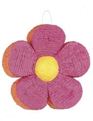 Rosa-orange Blumen-Piñata