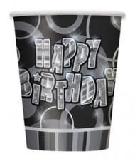 8 Becher - Happy Birthday