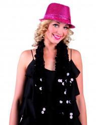 Pailletten Hut pink Erwachsene