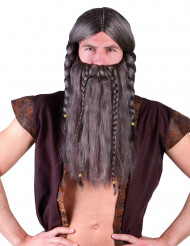Wikinger-Perücke mit Bart für Erwachsene