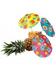 6 Hawaii-Cocktail-Schirmchen