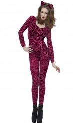 Leopardenkostüm für Frauen rosa