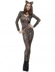 Sexy Leoparden Ganzkörperanzug für Damen