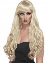 Blonde Langhaar-Locken-Perücke für Damen