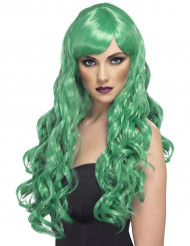 Grüne Langhaar-Locken-Perücke für Damen
