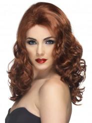 Glamouröse kastanienfarbene Perücke für Damen