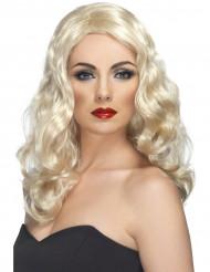 Verführerische Langhaar-Perücke für Damen wellig blond