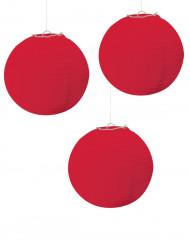 Runde, rote Laternen-Hängedeko