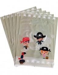 6 Geschenktüten Piraten-Motiv