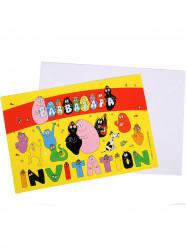6 Einladungskarten Barbapapa
