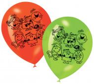 6 bedruckte Ballons Monsieur Madame™