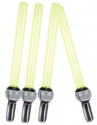 4 aufblasbare Laser-Schwerter