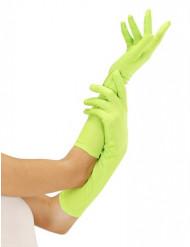 Lange neongrüne Handschuhe