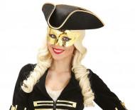 Augenmaske in Goldmetallic für Erwachsene