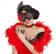 Schwarze Spitzen-Maske für Erwachsene