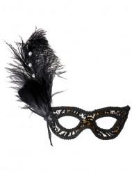 Augenmaske Leopard für Damen braun-beige