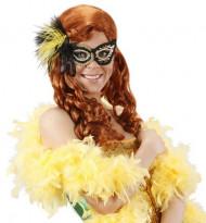 Schwarz-goldene Augenmaske für Erwachsene