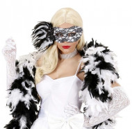 Schwarz-weiße Spitzen-Augenmaske für Erwachsene