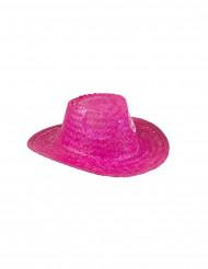 Rosa Flecht-Cowboyhut für Erwachsene