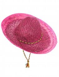 Pinker mexikanischer Sombrero für Erwachsene