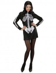 Skelett Kostüm (Kleid) für Damen