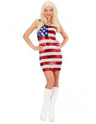 Miss USA-Paillettenkleid für Damen