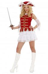 Sexy Musketier-Kostüm für Damen