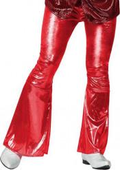 Glänzend rote Disco-Hose für Herren