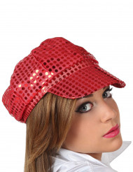 Rote Disco-Kappe für Erwachsene