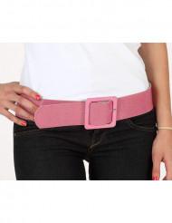 Schimmernder rosa Gürtel für Damen