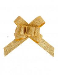 Geschenk Schlaufen gold-glitzernd