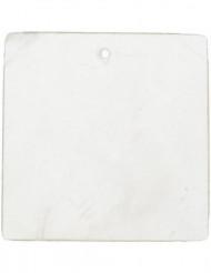 6 viereckige Platzschilder in weiß