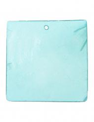 6 Platzschilder - türkisblau