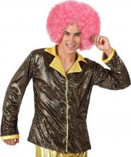 Glänzende, goldene Disco-Jacke für Herren