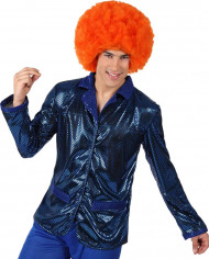 Blaue Disko Jacke für Herren