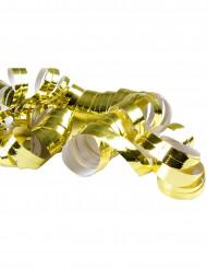2 Rollen mit 20 goldenen Luftschlangen