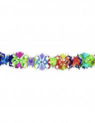 Bunte Papiergirlande mit Blumenmotiven