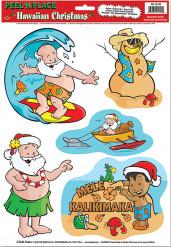 Sticker Weihnachten auf Hawaii