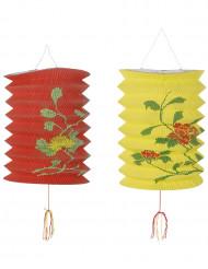 Rot-gelbe chinesische Laternen