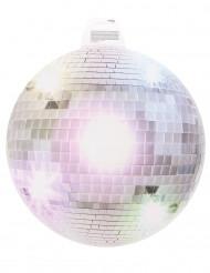 Silberne Disco-Kugel Wanddeko